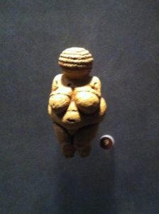 Ancient Stone Female Figurine Willendorf, Austria (24000 - 22000 BC)